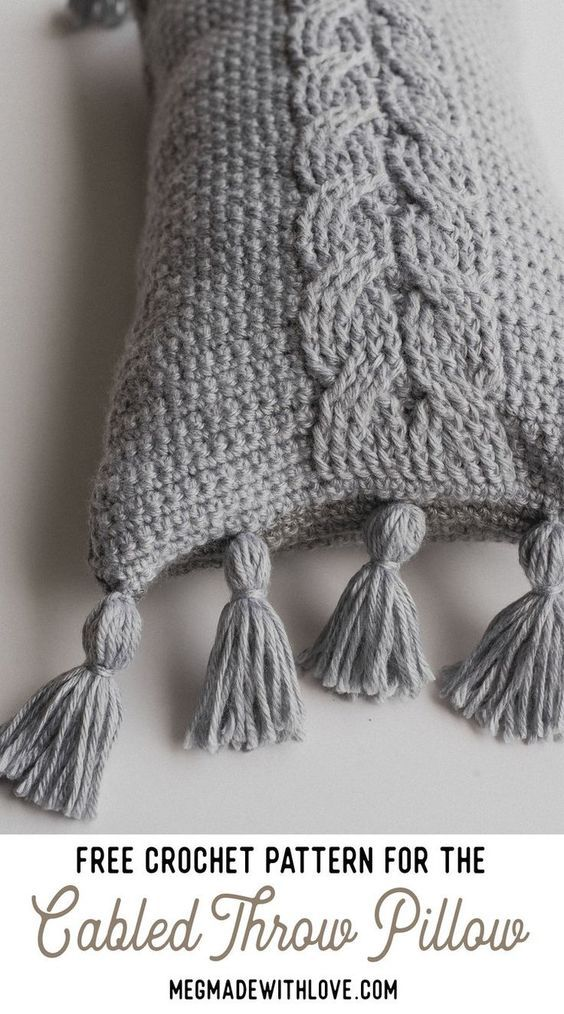 Free Crochet Pattern for the Cabled Throw Pillow   Crochet for the ...