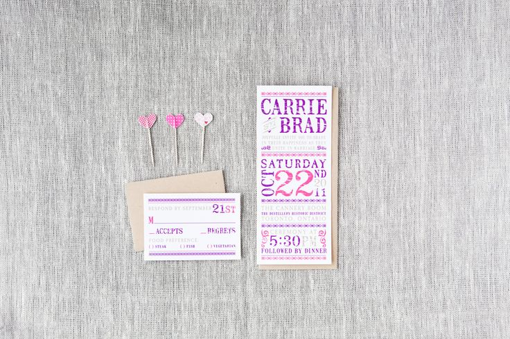 Carrie & Brad - Paper & Poste Custom Invitation