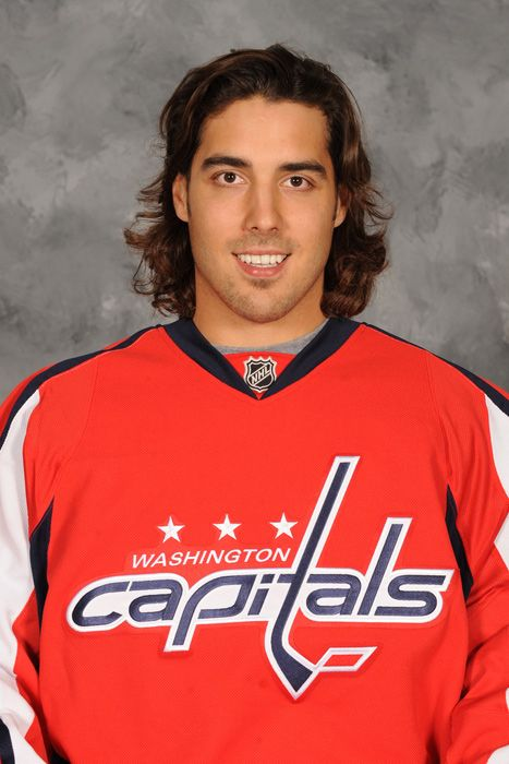 Mathieu Perreault    Washington Capitals..he's so adorable in interviews I can't even