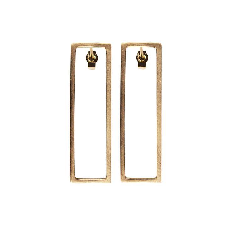Rectangle Earrings Gold