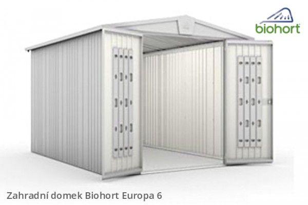 Zahradní domek EUROPA 6, stříbrná metalíza       - Kliknutím zobrazíte detail obrázku.