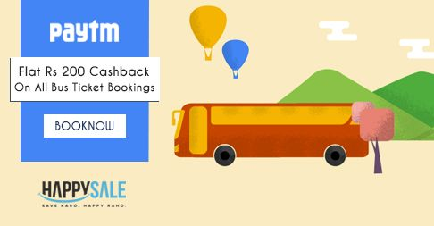 Thrilling Thursday With #Paytm. Get Flat Rs 200 #Cashback On All Bus Ticket Bookings. https://happysale.in/paytm-bus/