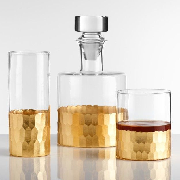 A gold-faceted bar set for anyone who passes off Kirkland vodka as Grey Goose.   26 Gifts That Only Look Expensive