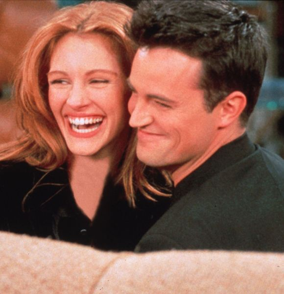 Matthew Perry and Julia Roberts...she made a guest appearance on Friends.