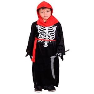 Fantasia Halloween Infantil Morte com Capuz