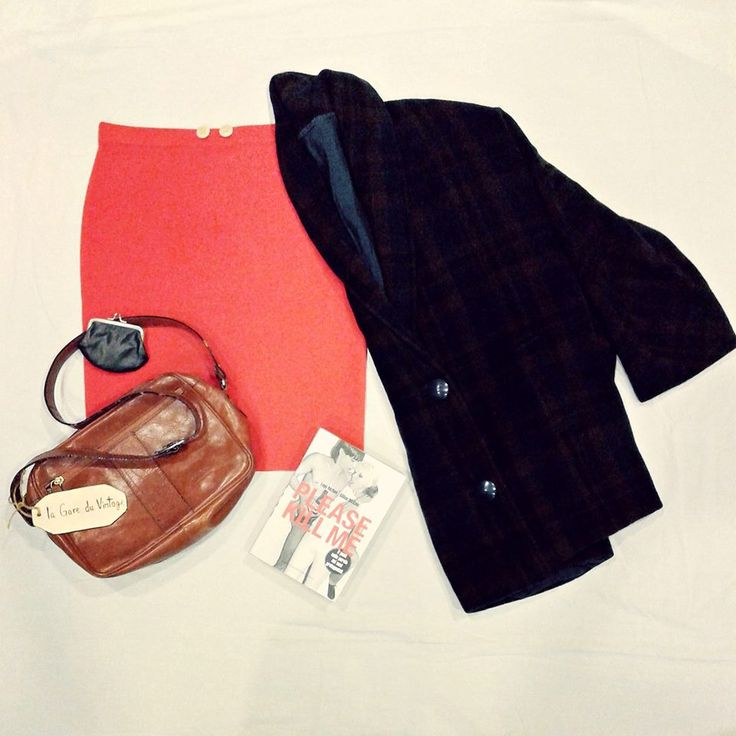Winter is coming. Red skirt + wool coat