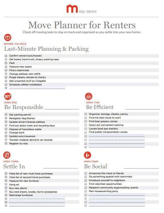 Moving Checklist Apartment ~ Home & Interior Design