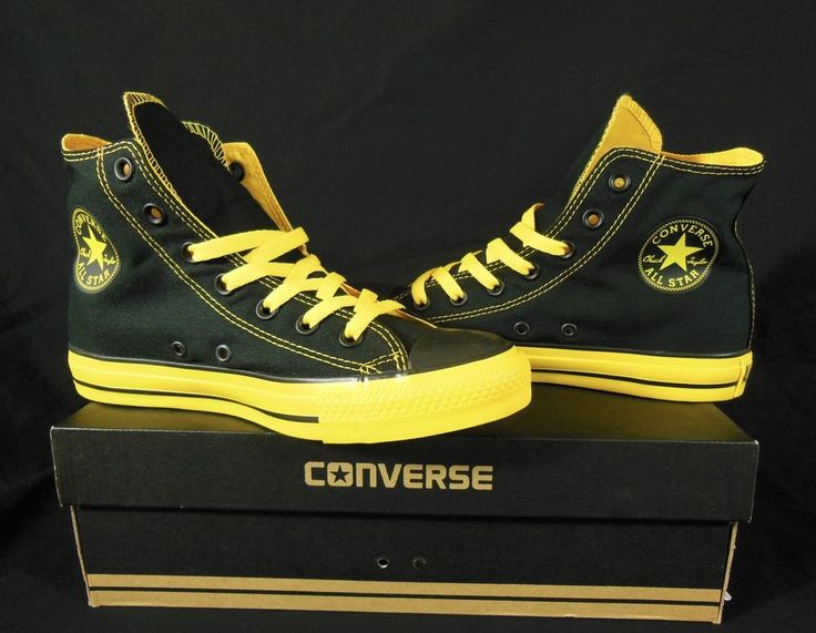Converse All Star Chuck Taylor Black and Yellow Men's ...