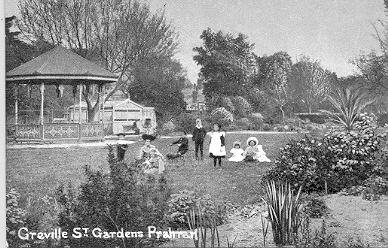 Greville Street Gardens, Prahran, ca. 1910.