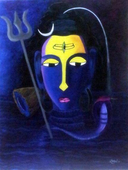 lord shiva abstract