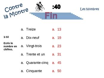 French Numbers 1-100 Writing Activity, Powerpoint by World Language Classroom | Teachers Pay Teachers