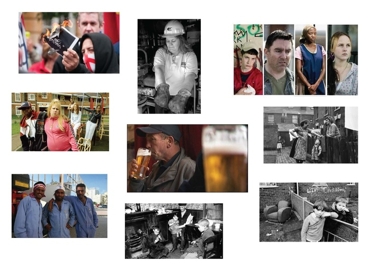 Following on from what Alan showcased a few lectures ago, I made my own impression boards of varying groups/distinctions of people. These images were gathered from a simple google image search. It includes 'man' and 'woman' search results, along with 'working class' and 'middle class'.