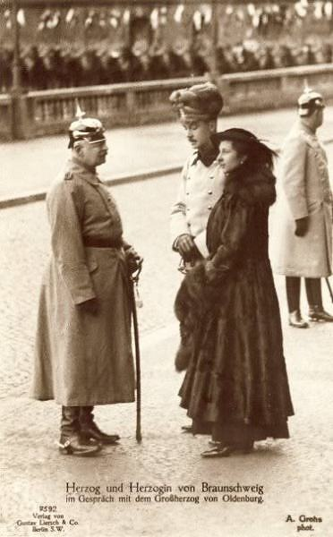 Beautiful The Grand Duke of Oldenburg with the Duke and Duchess of Brunswick Braunschweig