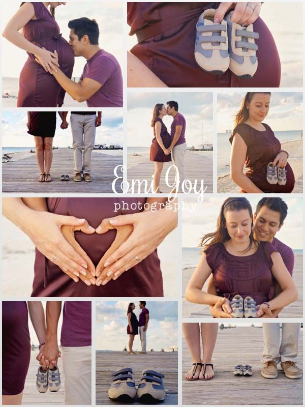 beach maternity photo shoot ♥ foto embarazo
