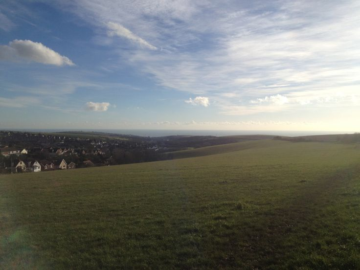 Beautiful view over Woodingdean on a sunny winter's day.