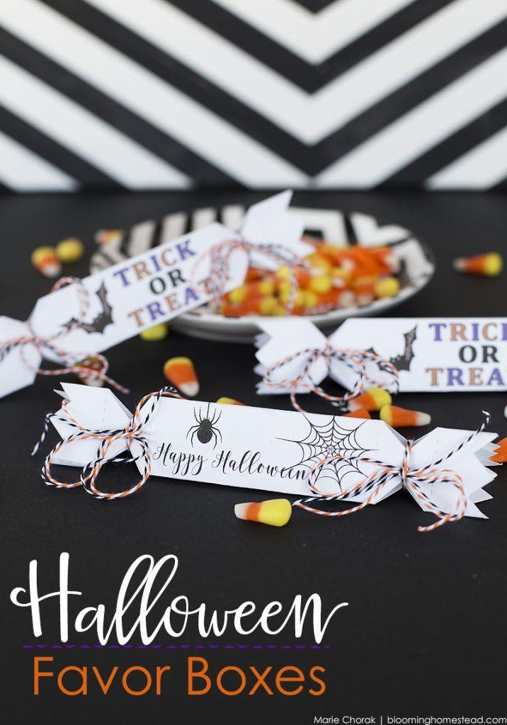 free printable halloween favor boxes halloween favorshalloween diyfavor - Diy Halloween Favors