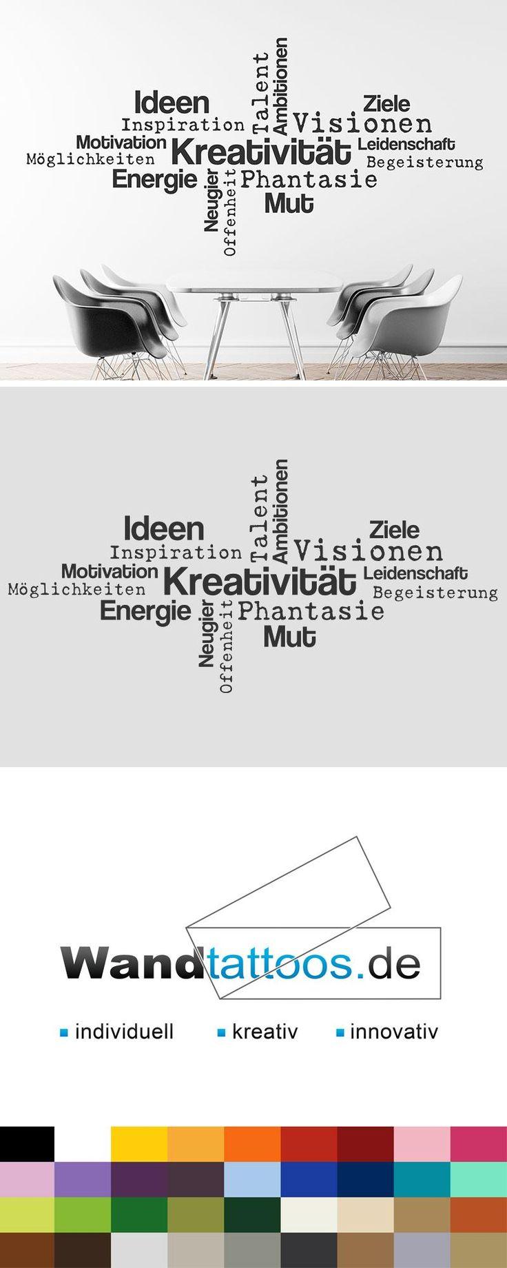 Wandtattoo Ideen, Kreativität, Mut, Motivation