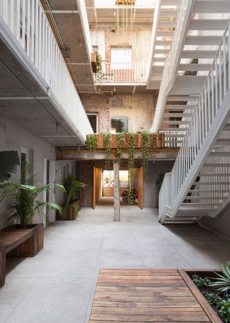 Cadaval & Sola-Morales has converted a derelict block in Mexico City's La Roma neighbourhood into apartments, offices and shops set around a courtyard.