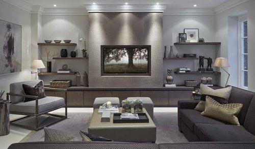 Wallpaper, art, floating shelves, everything | Sophie Pattern Design