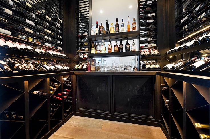 South Yarra Penthouse Apartment glass wine room  Vine & Vault Custom Cellars