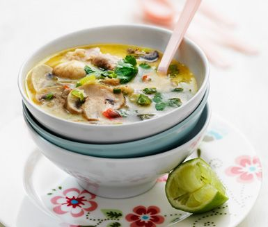 Tom Kha Gai (Chicken Coconut Soup) på svenska från ICA