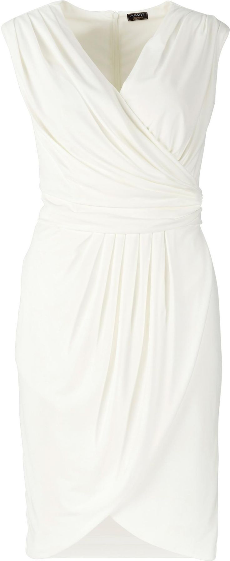 elegant dress for the registry office. wedding dress, wrap