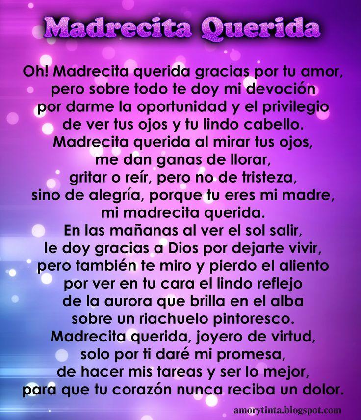 Gracias Madre Poemas 51 mejores imágenes de #mamasiempre en pinterest | madres, la
