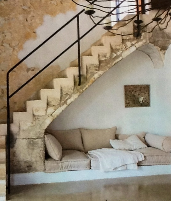 Stairs For Small Areas: Sit Area Under The Stairs, Saving Space