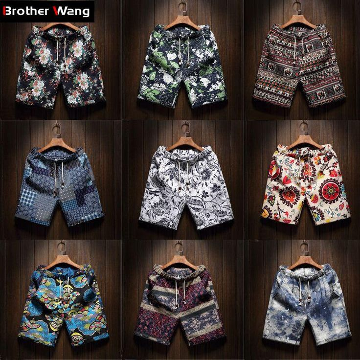 Men's Beach Shorts new fashion Linen Leisure shorts Loose Straight Comfortable Bermuda Men summer shorts Brand Large size M-5XL - 10 minus