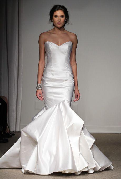 Anna Maier Ulla-Maija - Spring 2013 - Laetitia Strapless Satin Mermaid Wedding Dress with Sweetheart Neckline |
