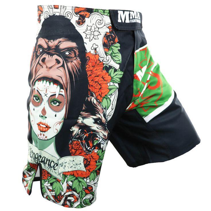 Fierce Sparring MMA Training Gym Breathable Protection Muay Thai Boxing Shorts Fight Kickboxing Mma Short Pretorian Shorts