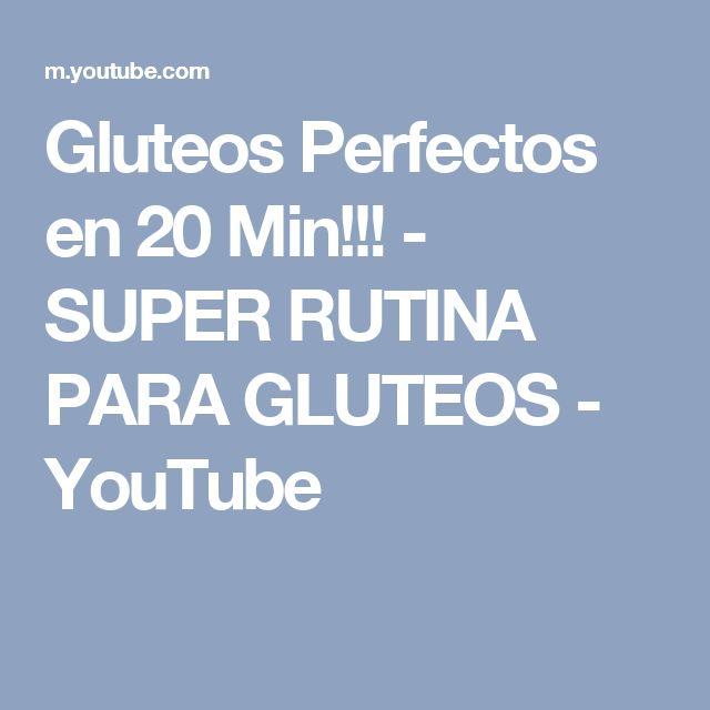Gluteos Perfectos en 20 Min!!! - SUPER RUTINA PARA GLUTEOS - YouTube