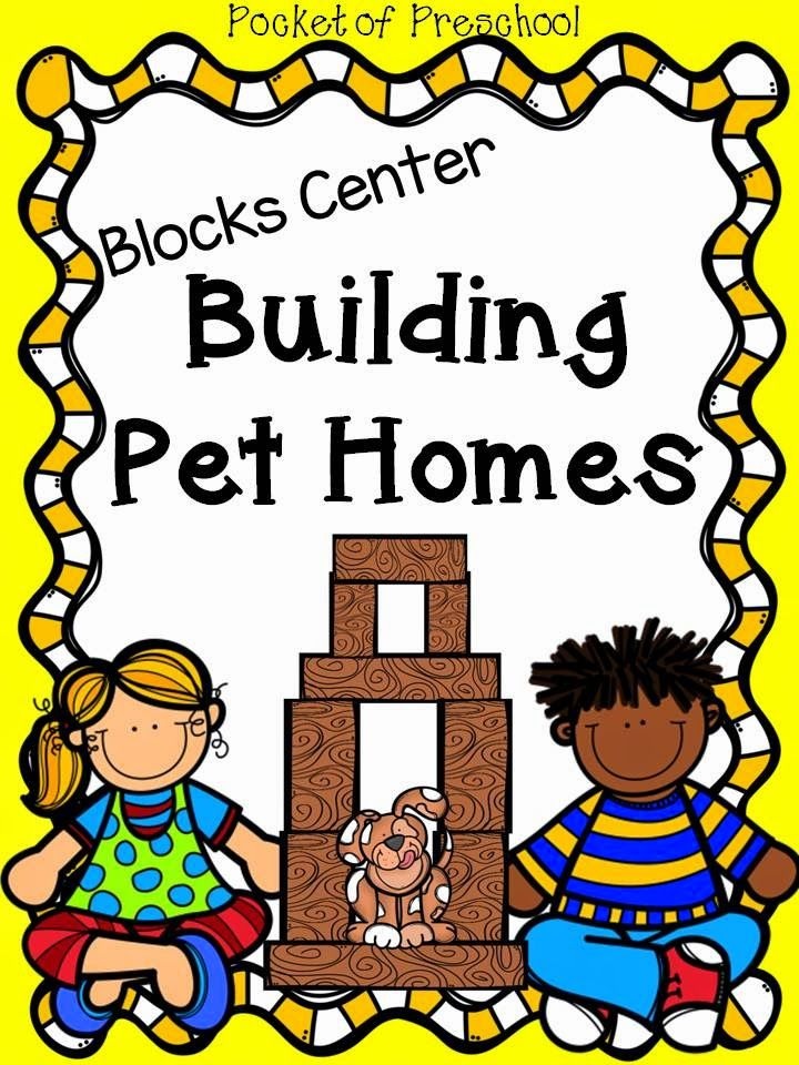 Pocket of Preschool Blocks Center Building Pet Homes