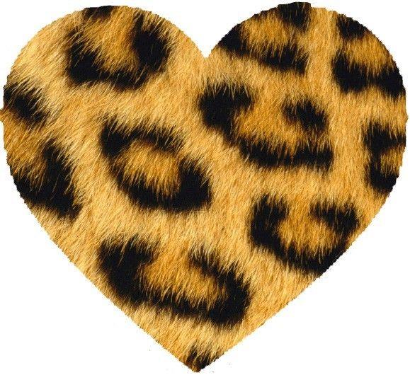 Leopard print furry heart.