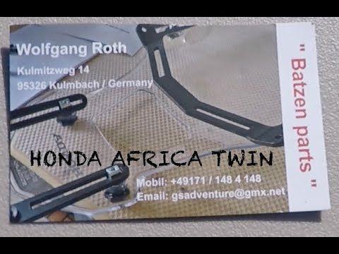(76) Honda Africa Twin Batzen Braket - YouTube