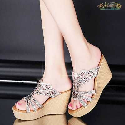 Summer Fashion Women Sandals Sexy Butterfly Cut-Outs High Heels Wedges Sandals Party Shoes Woman