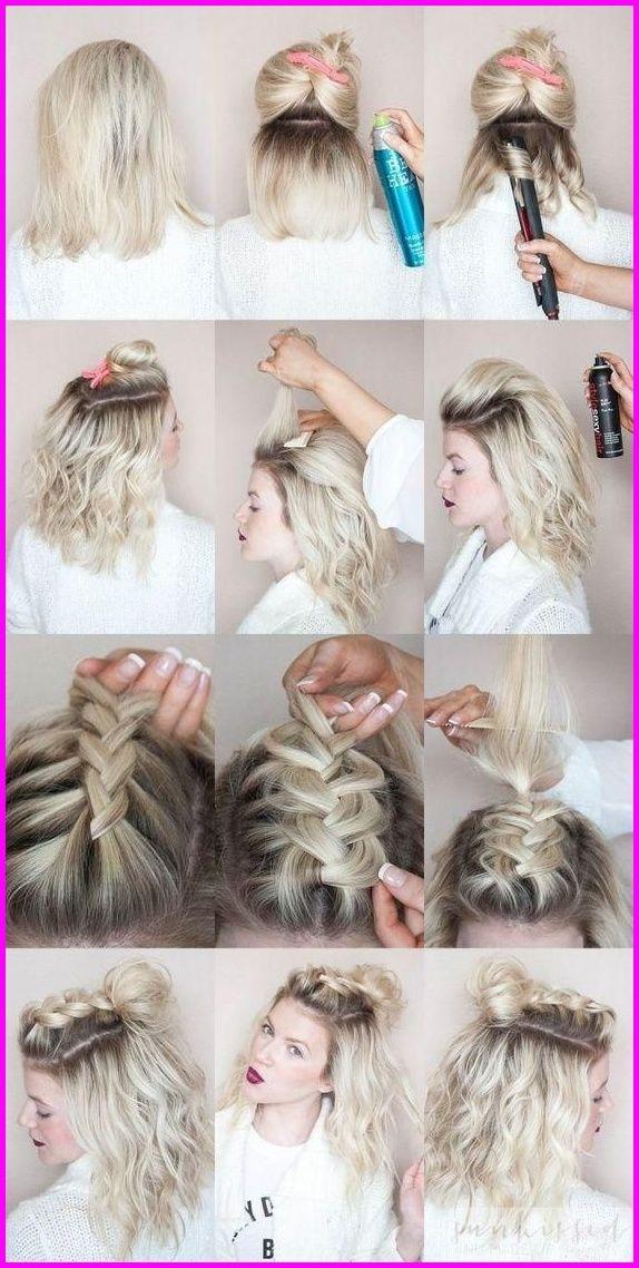 7 Step-by-step Schemes of Weaving Different Types of Braids on Short …   #damenfrisuren2019 #frisuren #trendfrisuren #neuefrisuren #haarschnitte #damenfrisuren #frauen #winterfrisuren #haarfarben #hairstyles2019