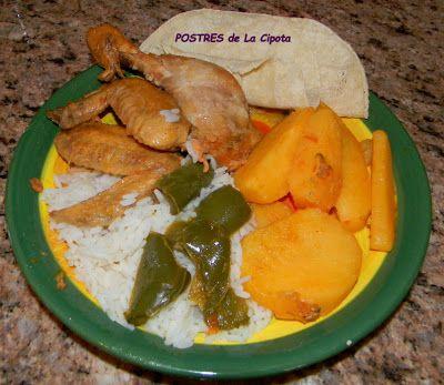 POSTRES de La Cipota: pollo guisado - Comida Tipica de El Salvador