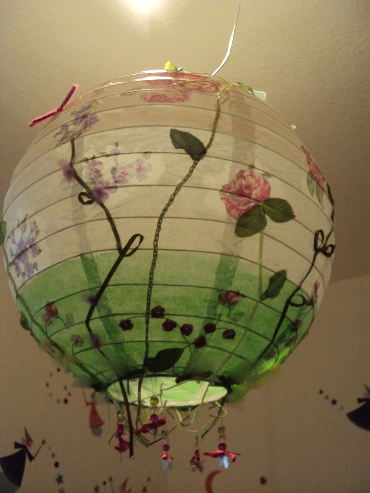 A DIY paper lantern for the girls room! Like it?