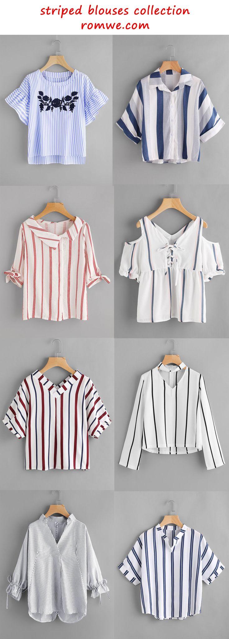 striped blouses 2017 - romwe.com