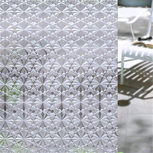3D Privacy Window Film Self-Adhesive Static Cling Energy Saving Anti-UV 78.7In #Velimax #Modern