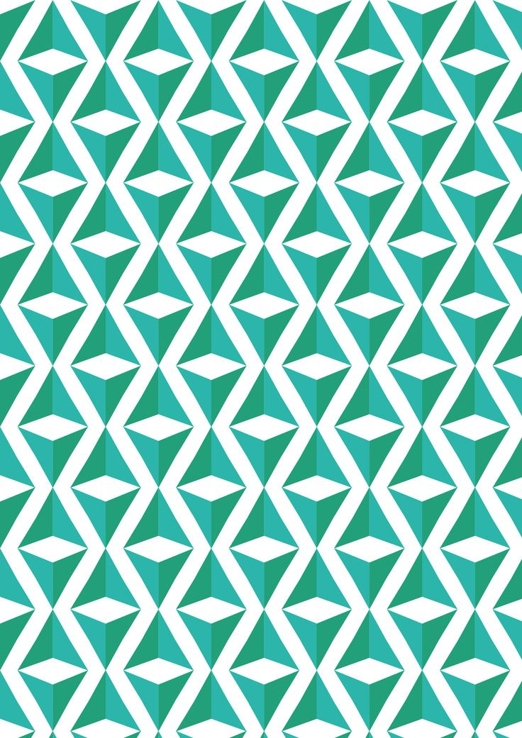 Green and blue repeating triangle square illusion pattern