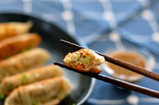 Japanese Gyoza with Spicy Dipping Sauce