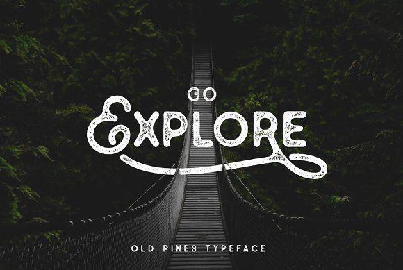 Old Pines Vintage Type - 3 Styles by pratamaydh on @creativemarket