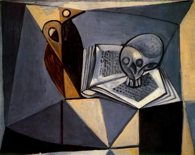 """Pablo Picasso - """"Skull and Book"""", 1946"""