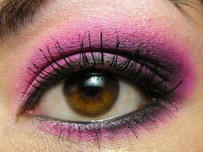 Pink eyeshadow...