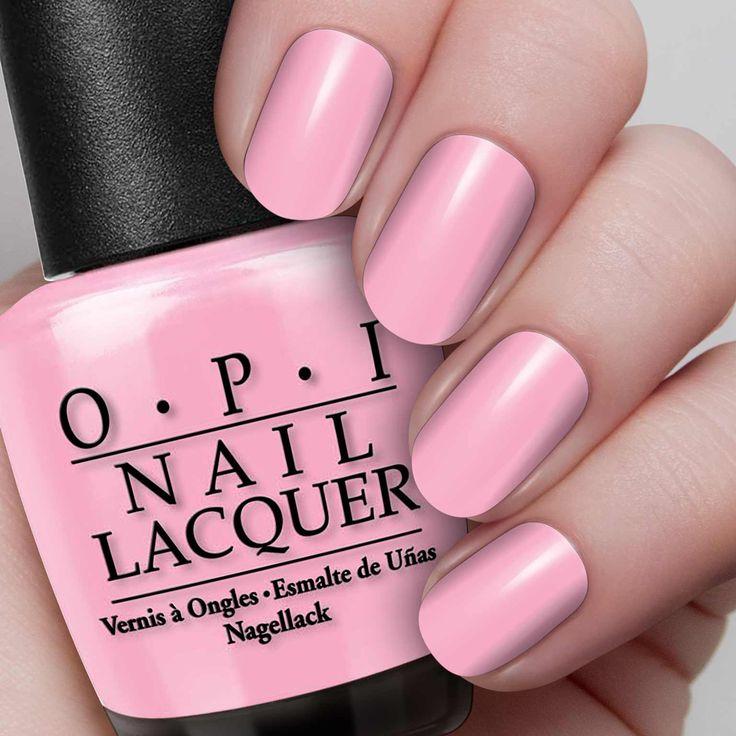 "OPI Pinking of You ""Loves me, loves me not"" petal pink creme."