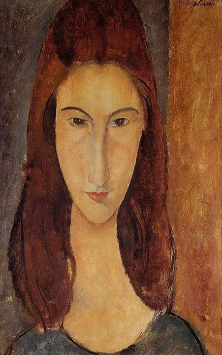 Amedeo Modigliani. I have this. His love and muse Jeanne Heubertenne. So beautiful and sad.