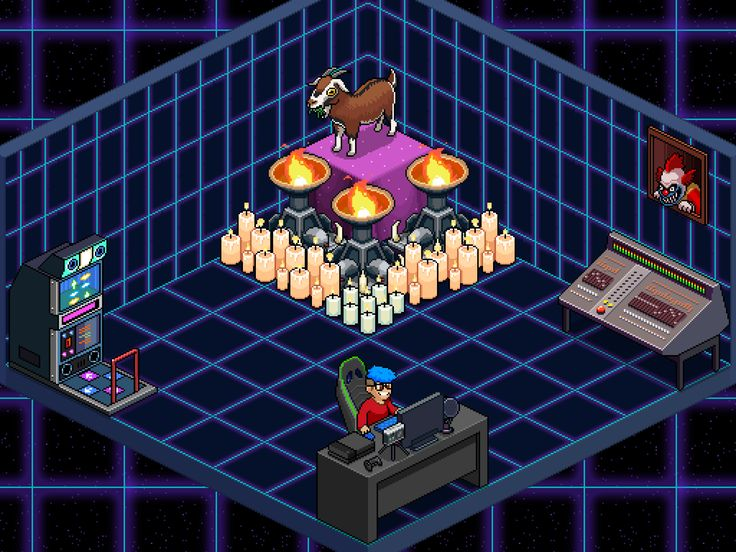 My room in PewDiePie's tuber simulator Decoration
