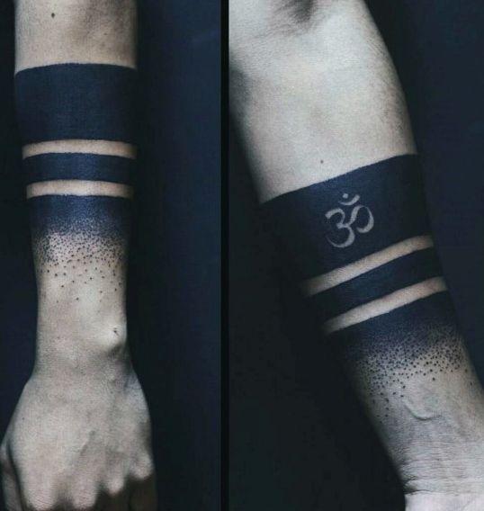 Armband Guys Blackwork Om Tattoos                                                                                                                                                                                 More